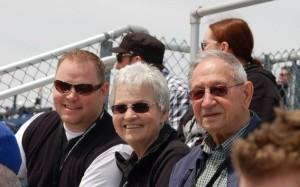 Family at the Baseball Game